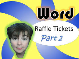 2 part raffle tickets microsoft word raffle tickets part 2 youtube