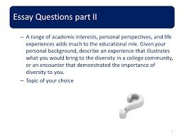 commission for educational exchange between the united states of 7 essay questions part ii a range of academic interests