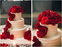 Red Rose Bakery Classic Fall Wedding Black And White With Crimson