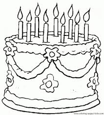 Small Picture Get This Printable Birthday Cake Coloring Pages 87141