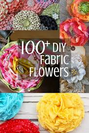 100 diy fabric flower patterns for you to make at home patterns are easy