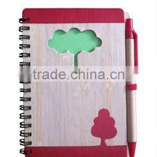 Spiral Bound Graph Paper Notebook Hard Bamboo Cover Of Notebook From
