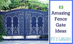 fence door ideas outdoor fence art ideas