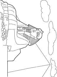 Kleurplaat Wereld Wonderen Sphinx Egypte Egypte Egypte