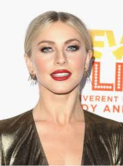 julianne hough teamed a red lip with heavy eye makeup for a striking beauty look
