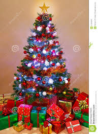 Christmas Tree And Presents At Home Stock Photography - Image ...