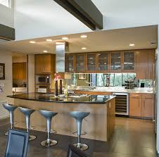 Open Concept Modern Kitchen Design With Large Island