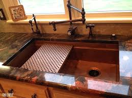 outstanding concrete countertop with copper sink photo ideas