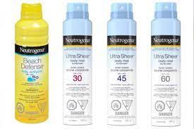 2 Neutrogena spray-on sunscreens ...