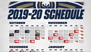 New Orleans Pelicans Seating Chart 3d Download A Printable Pelicans 2019 20 Schedule New Orleans