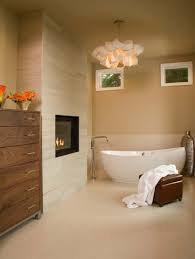Small Master Bathroom With Fireplaces