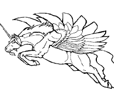 Disegno Di Unicorno Alato Da Colorare Acolorecom