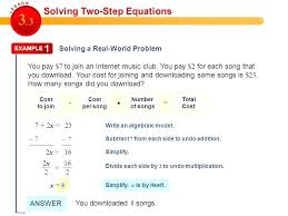 two step equations activity solving two step equations 7 7 multi step equations activity pdf