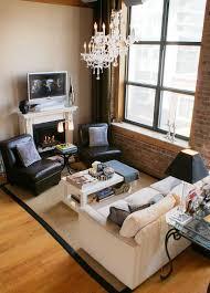 furniture arrangement in narrow living room