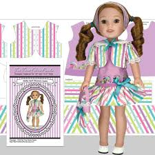 Doll Dress Design Kit Wellie Wisher Doll Clothes Kit April Showers Lavender Outfit