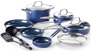 Blue <b>Diamond</b> 12-Piece Toxin-<b>Free</b> Ceramic Nonstick Pots and ...