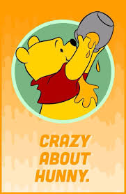 Winnie the Pooh.Crazy about hunny