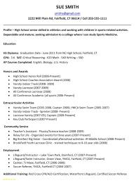Sample Resume For High School Student Applying To College Elegant