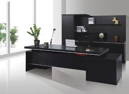 black office desk black middot office