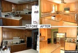Kitchen Cabinet Refacing Cost S Kits Home Depot Refinishing Per