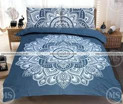 queen grey white fl bed set indian bedding sets native american comforter