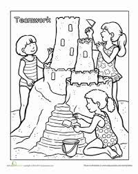 Coloring is a very useful hobby for kids. Words To Live By Teamwork Worksheet Education Com Summer Coloring Pages Summer Coloring Sheets Coloring Pages