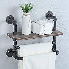 weven industrial pipe bathroom shelves