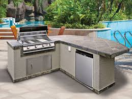 Countertop For Outdoor Kitchen Interior Design Surprising Prefab Cabinets With Tiles Countertop