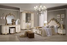 Italienisches Barock Schlafzimmer Adriana In Beigegold 6 Teilig