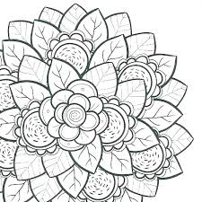 Floral Coloring Pages Flowers Coloring Pages Flower Coloring Pages