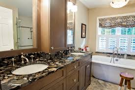 granite bathroom counters. Black And Beautiful Imperial Bathroom Countertops Made From Manufactured Quartz With A White Sink Wooden Counters As Well Bathtub Granite