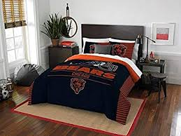 What size is a queen comforter Pinch Pleat Chicago Bears Piece Full Queen Size Printed Comforter Set Entire Set Includes Indiaelectionsinfo Amazoncom Chicago Bears Piece Full Queen Size Printed