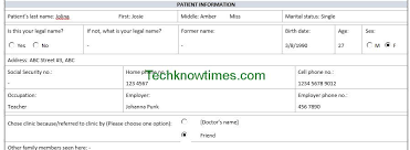 new patient forms medical office templates patient registration form template
