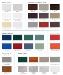 Macphees Metal Roofing And Vinyl Siding Color Charts
