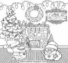 Small Picture Minion Christmas Coloring Pages Throughout And glumme