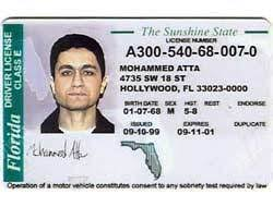 Page Florida License In Atta's Driver's Issued 1999 1