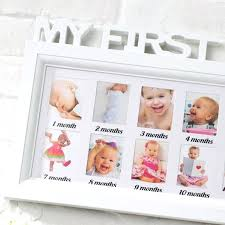 baby memorial photo frame letter piece conjoined children months wall picture combination of in from home baby picture frame month