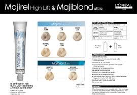 Majirel High Lift Shade Chart Majirel High Lift Majiblond Ultra Color Chart And