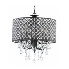 black chandelier lighting. New Legend Lighting Antique Black 4-light Round Crystal Chandelier Pendant Ceiling Fixture - Amazon.com E