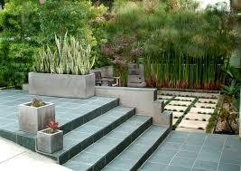 excavated zen garden slope garden