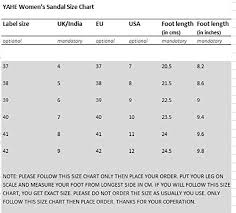 Sandal Size Chart Uk To India Yahe Womens Casual Doctor Sole Orthopaedic Comfortable Slippers Y 506