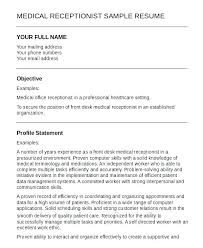 Resume Examples For Receptionist Hotel Front Desk Resume Examples ...
