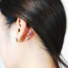 Girl Tattoos Behind Ear Designs Hidden Tattoos Tiny Flower Tattoos Small Tattoos Flower