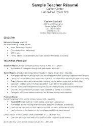 Example Resumes For Teachers Writing A Teaching Resume Teaching Template Job Description Teachers