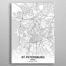 'St Petersburg Russia' Metal Poster <b>Print</b> - <b>Rockstone</b> | Displate | City ...