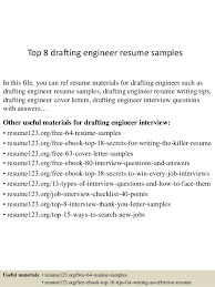 Top 8 drafting engineer resume samples In this file, you can ref resume  materials for ...