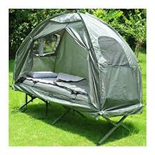 Folding Tent Amazon Com Outdoor 1 Person Folding Tent Elevated Camping Cot W