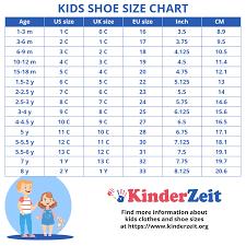 Girls Shoe Size Chart By Age Buurtsite Net