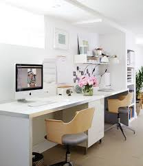 white airy home office. This Finished Basement Is Bright, Airy And Organized! Tour The Full Space (it Includes A Family Room, Home Office, Bar, Kitchenette Play Zone! White Office S