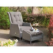 whitewash outdoor furniture. kettler classic recliner u0026 footstool whitewash image outdoor furniture